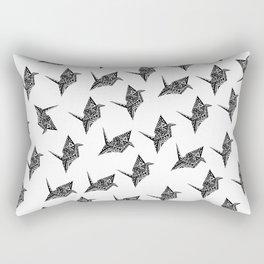 Paper Crane Bird Origami Doodle Pattern Rectangular Pillow