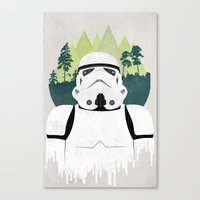 stormtrooper Canvas Prints featuring Stormtrooper by Robert Scheribel