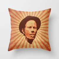 tom waits Throw Pillows featuring Waits by Durro