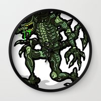 xenomorph Wall Clocks featuring Xenophobe?  Well, yeah...  This Alien spits acid! The Aliens Xenomorph Alien! by beetoons