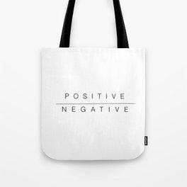positive/negative Tote Bag