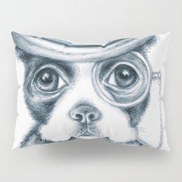 Boston Terrier Detective Pillow Sham