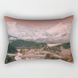 First light on Loch Affric, Scotland Rectangular Pillow
