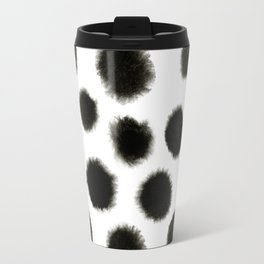 Watercolor black spot pattern Travel Mug