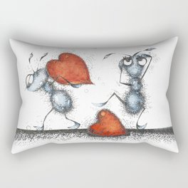 Two ants with hearts Rectangular Pillow