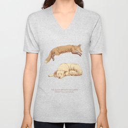 The quick brown fox jumps over the lazy dog Unisex V-Neck