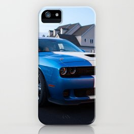 B5 Petty Blue with white stripes Challenger Scat pack Hellcat iPhone Case