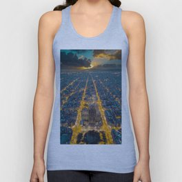 Sunset in Barcelona Unisex Tanktop