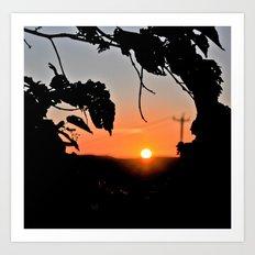 Sunset Borders Art Print