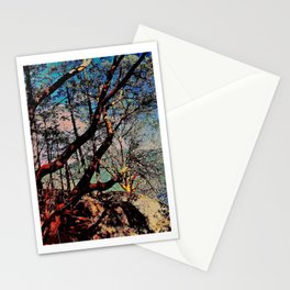 Arbutus Trees, Stoney Hill Sunset Stationery Cards