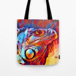 Iguana Watercolor Tote Bag