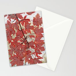 Flame maple Stationery Cards