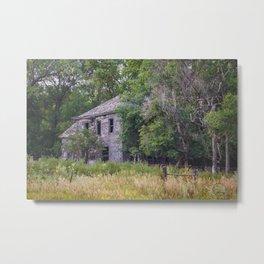 Abandoned Farm House, North Dakota Metal Print