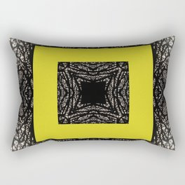 Gothic tree box pattern mustard yellow Rectangular Pillow