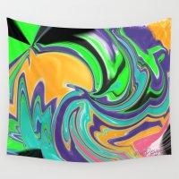 hippie Wall Tapestries featuring Hippie Dayz by NPDesigns