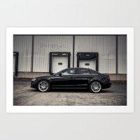 audi Art Prints featuring 2013 Audi A4 S-Line by Nicolas Goulet