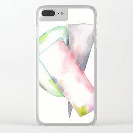 180914 Minimalist Geometric Watercolor 2 Clear iPhone Case
