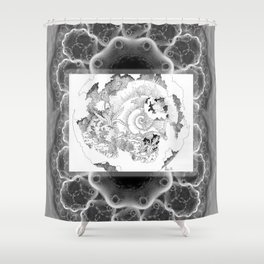 Shells of the Time Shower Curtain