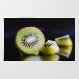 Sliced Kiwi Fruit - Kitchen or Cafe Decor Rug