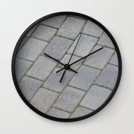 TEXTURES -- Pavingstone Pattern Wall Clock