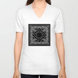 Bandana Black & White Unisex V-Neck