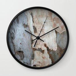 Bark Of A Eucalyptus Tree  Wall Clock