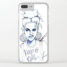 #STUKGIRL KYE (Keep it Real) Clear iPhone Case