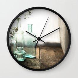 Memories in Bottles Wall Clock