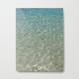 simply clean sea water Metal Print
