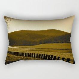Down the Golden Loop Rectangular Pillow