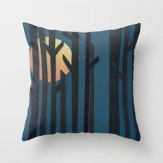 Breaking Through Throw Pillow