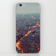 Blue Hour in Paris. iPhone & iPod Skin