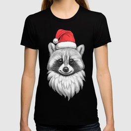 Santa Raccoon T-shirt