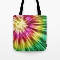 Abstract Green Tie Dye Tote Bag