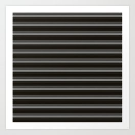 Black Ombre Stripes Art Print