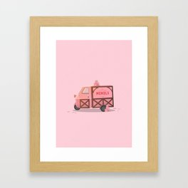 Mendl's Van Framed Art Print