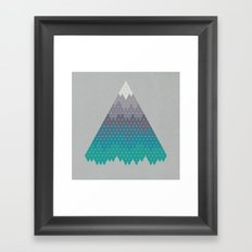 Many Mountains Framed Art Print