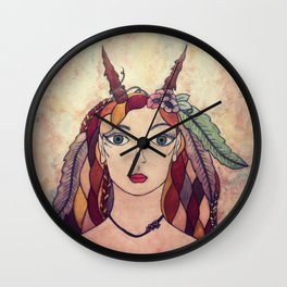 Lady of the Wood Wall Clock