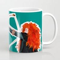 merida Mugs featuring Merida - Brave by Arthorin