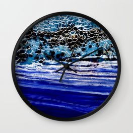 ...blurred line of horizons Wall Clock