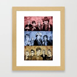 Doctor Who - Three Colours Who Framed Art Print
