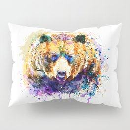 Colorful Grizzly Bear Pillow Sham