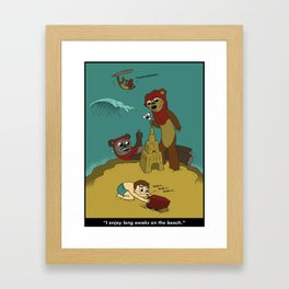 Long Ewoks on the Beach - Full Framed Art Print