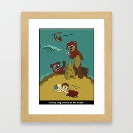 Long Ewoks on the Beach - Full Framed Art Print