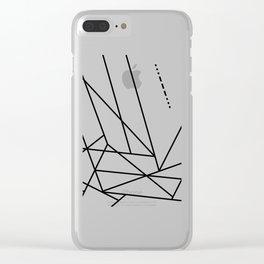 Intergalactic SOS Clear iPhone Case