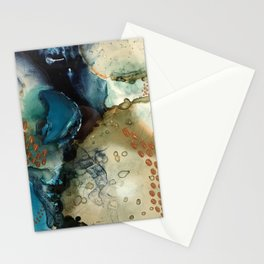 Winter Gold Stationery Cards