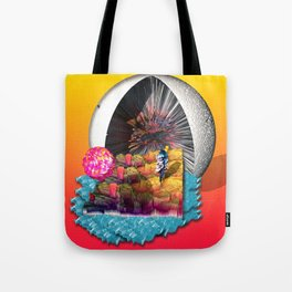 Low-Poly Paradise Tote Bag
