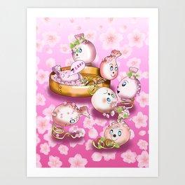 Cute spring dumplings Art Print
