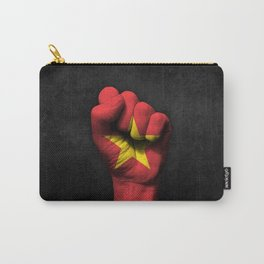 Vietnamese Flag on a Raised Clenched Fist Carry-All Pouch