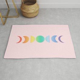 Not a Phase Moon Rainbow Rug